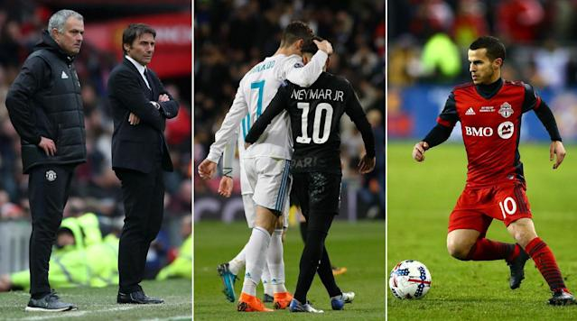 """<p>The Champions League competitions in Europe and America are going on simultaneously after the start of CONCACAF's round of 16 on Tuesday night, and they're at the center of the latest episode of Planet Fútbol TV.</p><p>We're joined by ESPN announcer–and the Spanish voice of FIFA 18–Fernando Palomo and journalist Paul Tenorio to discuss both competitions and much more. In Europe, who from the opening matches last week impressed the most, and does PSG have a chance to come back vs. Real Madrid? <em>(Note: This week's show was taped prior to <a href=""""https://www.si.com/soccer/2018/02/20/champions-league-chelsea-barcelona-messi-willian-bayern-munich-besiktas"""" rel=""""nofollow noopener"""" target=""""_blank"""" data-ylk=""""slk:Chelsea's draw vs. Barcelona and Bayern Munich's rout of Besiktas"""" class=""""link rapid-noclick-resp"""">Chelsea's draw vs. Barcelona and Bayern Munich's rout of Besiktas</a>)</em></p><p>In CONCACAF, will this <em>finally</em> be the year that <a href=""""https://www.si.com/soccer/2018/02/20/concacaf-champions-league-format-mls-toronto-fc"""" rel=""""nofollow noopener"""" target=""""_blank"""" data-ylk=""""slk:an MLS team lifts the regional trophy"""" class=""""link rapid-noclick-resp"""">an MLS team lifts the regional trophy</a>, or will it be Charlie Brown and the football all over again? Star-studded Toronto FC figures to have as good a chance as any, but as we've seen in the past, nothing can be taken for granted when it comes to MLS and CCL.</p><p>We also turn our attention to domestic leagues, such as in England, where Manchester United and Chelsea square off on Sunday in a massive Premier League showdown, and the USA, where the MLS season is set to kick off after the addition of expansion team LAFC.</p><p>Watch this week's full episode above, and you can watch all past episodes via Amazon Channels. <a href=""""https://www.si.com/planetfutbolTV"""" rel=""""nofollow noopener"""" target=""""_blank"""" data-ylk=""""slk:Sign up here for a free seven-day trial"""" class=""""link rapid-noclick-resp"""">Sign up here for a fr"""
