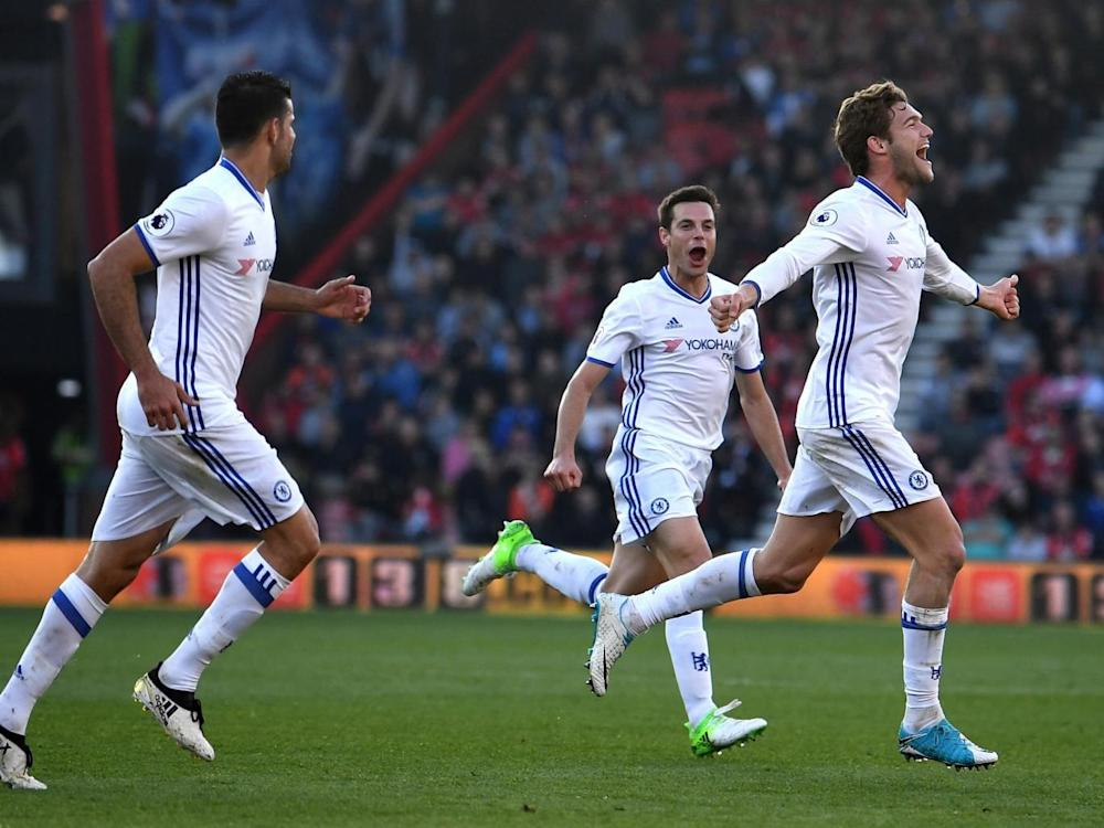 Alonso curled home a stunning free-kick (Getty)