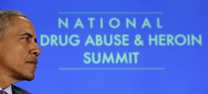 U.S. President Obama participates in a National Rx Drug Abuse and Heroin Summit in Atlanta, Georgia, on March 29, 2016. (Photo: Kevin Lamarque/Reuters)
