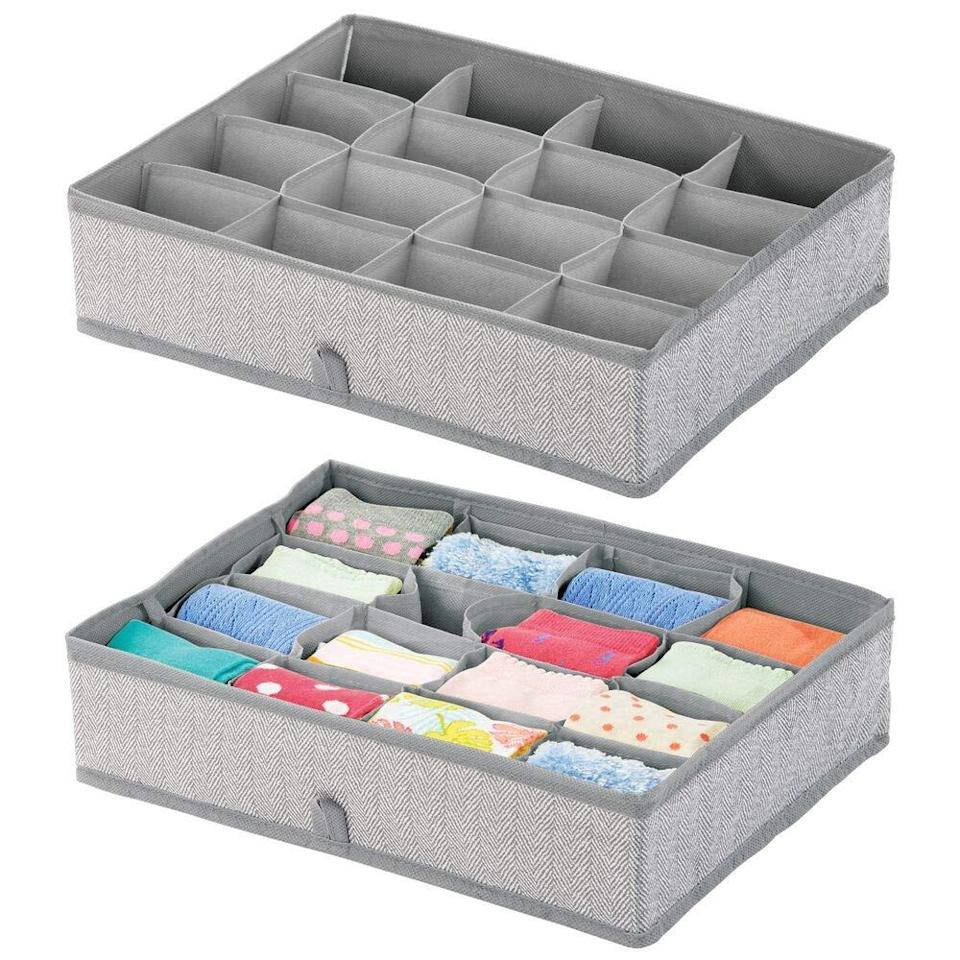 """<br><br><strong>mDesign</strong> mDesign Soft Fabric Dresser Drawer, $, available at <a href=""""https://amzn.to/2Lgy1hb"""" rel=""""nofollow noopener"""" target=""""_blank"""" data-ylk=""""slk:Amazon"""" class=""""link rapid-noclick-resp"""">Amazon</a>"""