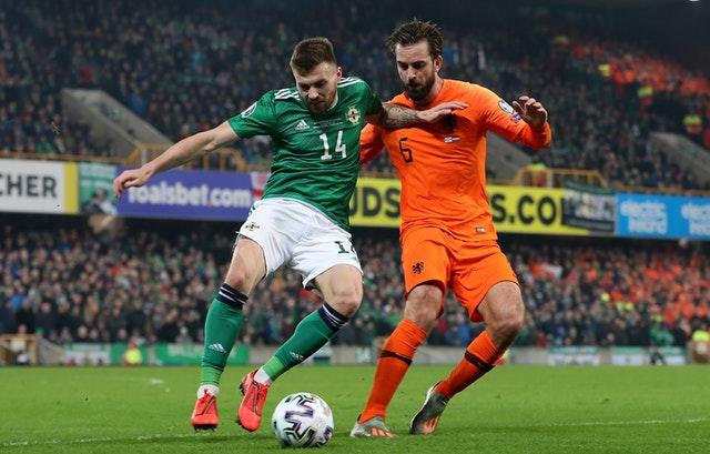 Saturday's draw with Holland ended Northern Ireland's hopes of automatic qualification (Liam McBurney/PA)