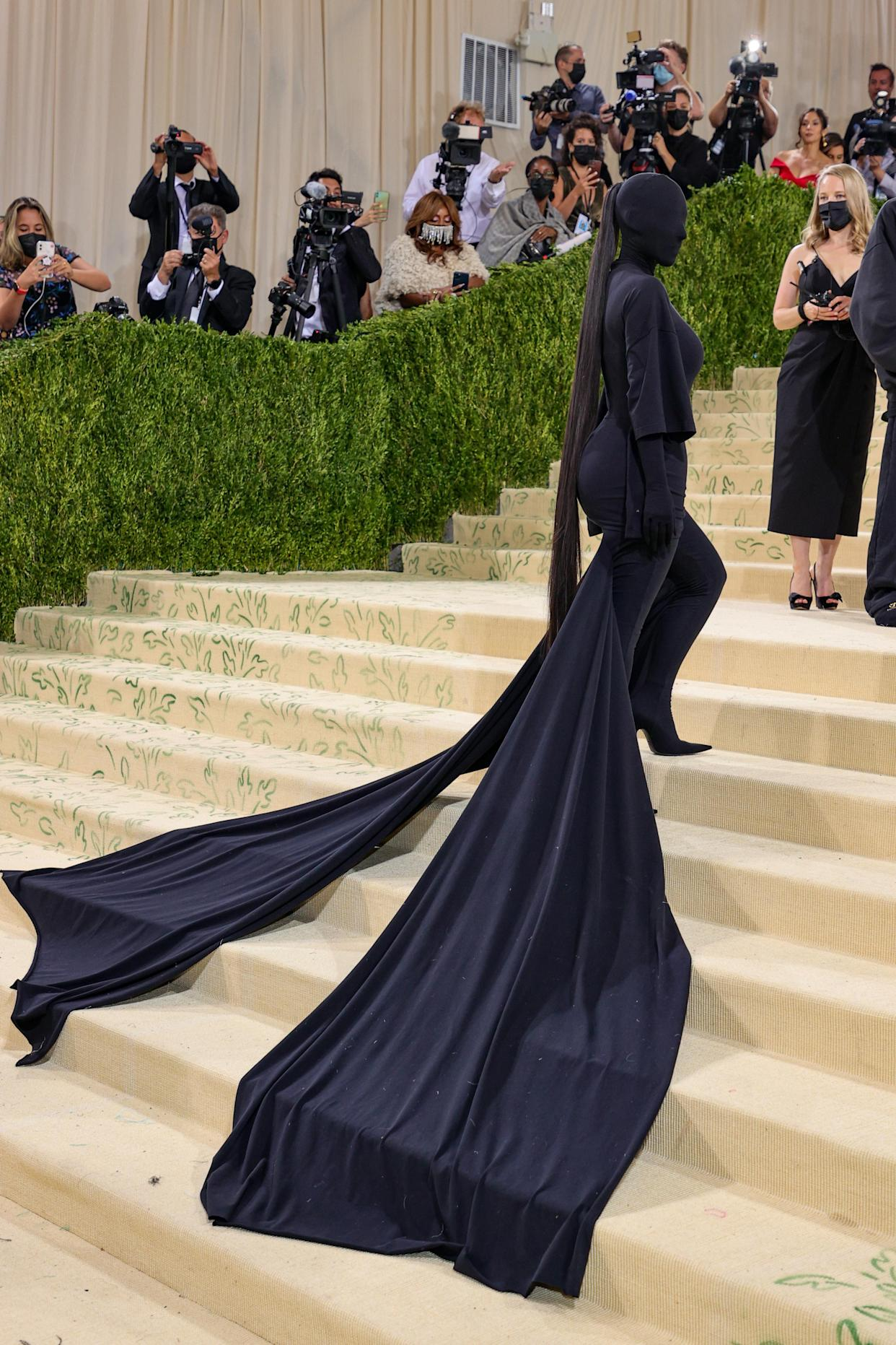 Kim Kardashian attends The 2021 Met Gala Celebrating In America: A Lexicon Of Fashion at Metropolitan Museum of Art on September 13, 2021 in New York City. (Getty Images)