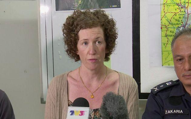 Nora's mother,Meabh Quoirin, during a press conference