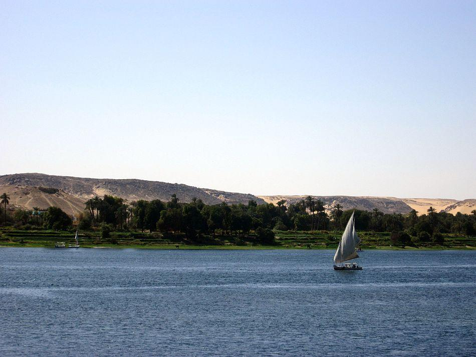 Sailing down the timeless blue water of the Nile