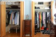 """<p>Even though these <a href=""""http://www.organizinghomelife.com/1000-easyclosets-organized-closet-giveaway/"""" rel=""""nofollow noopener"""" target=""""_blank"""" data-ylk=""""slk:two closets"""" class=""""link rapid-noclick-resp"""">two closets</a> weren't in terrible shape before, they definitely lacked structure.</p>"""