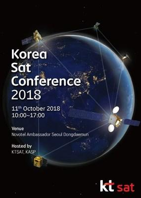 A poster advertising the Korea Sat Conference 2018