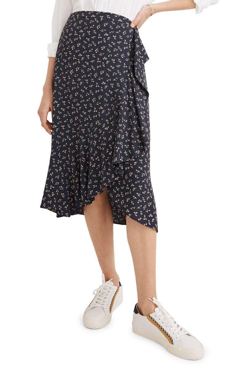 <p>Versatile basics that you can wear with just about anything are always a good idea. In summer and fall, we suggest the <span>Madewell Ruffle Wrap Midi Skirt</span> ($98). The fun print gives it a lively feel, but all you have to do is throw on a top and sneakers or sandals, and you're ready to go.</p>