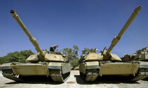 M1 Abrams tanks entered US service in 1980 and replaced M60s