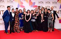 Emmerdale was the most searched soap by Yahoo! readers and the ITV show kicked off the year by landing the coveted Best Serial Drama gong at the National Television Awards (Picture: PA)