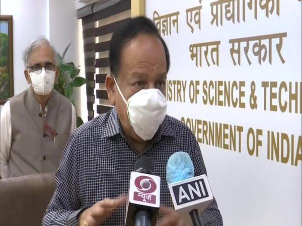 Union Health Minister Harsh Vardhan speaking to reporters in New Delhi on Thursday. Photo/ANI