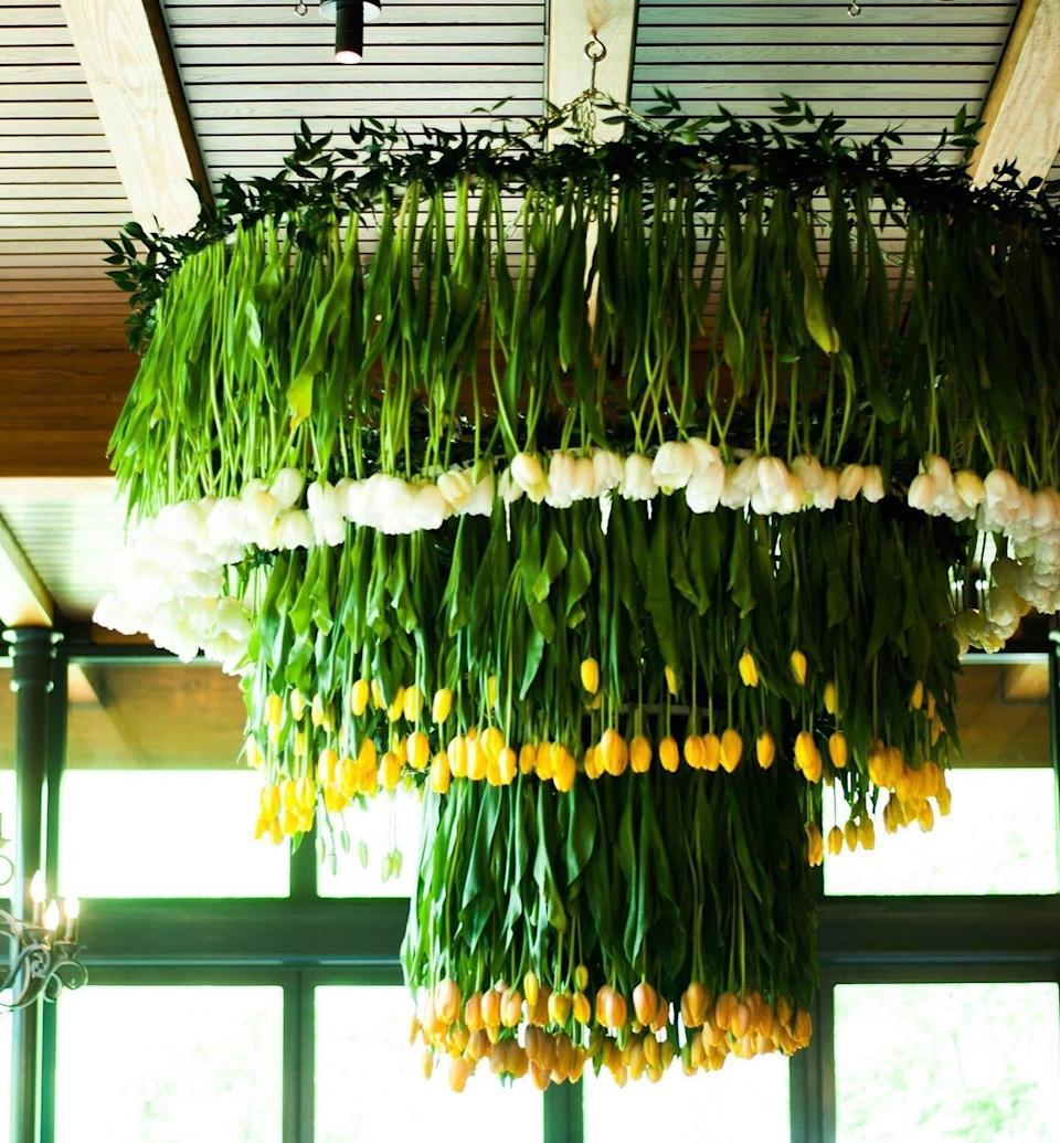 C.Wayman Floral and Events tulip chandelier