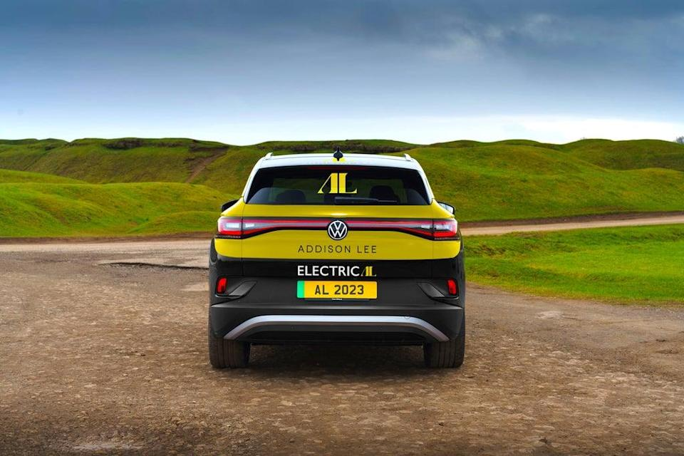 One of the Volkswagen ID.4 vehicles, which Addison Lee hope to introduce into their fleet from November (Addison Lee/PA) (PA Media)