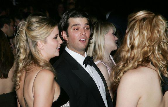 NEW YORK - FEBRUARY 17: Ivanka Trump and brother Donald Trump Jr. attend The Musuem of Natural History's Winter Dance Benefit 'Celebrating Heavenly Bodies of the Universe' at the Rose Center for Earth and Space February 17, 2005 in New York City. (Photo by Evan Agostini/Getty Images)