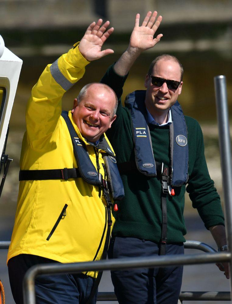 Prince William during the launch of a new campaign to help prevent accidents and self-harm incidents on the River Thames on May 21, 2019. | Dominic Lipinski - WPA Pool/Getty Images