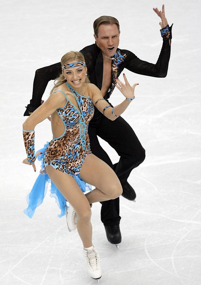 <p>The Russian ice dancing team had one of the most daring outfits in recent memory. The pair wore Tarzan/jungle-inspired clothes with Kostomarov going bare chested during competition. </p>