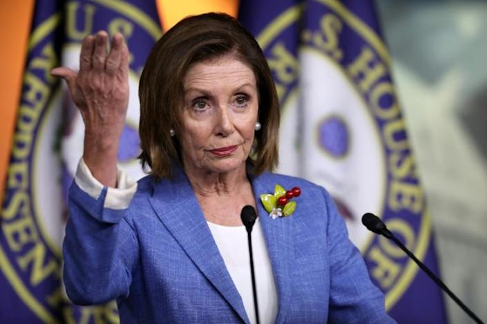 US Speaker of the House Nancy Pelosi is contending with a growing number of fellow Democrats who are advocating for impeaching President Donald Trump (AFP Photo/CHIP SOMODEVILLA)
