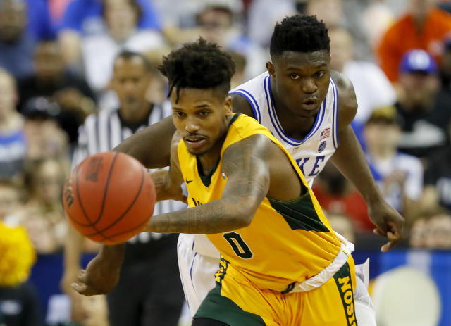 <p>No. 16 seed North Dakota State stormed out in the first half, but could not keep up with with the Duke's defense. NDSU's Vinnie Shahid had a brilliant performance, but was not able to shake Zion Williamson and the Blue Devils. </p>