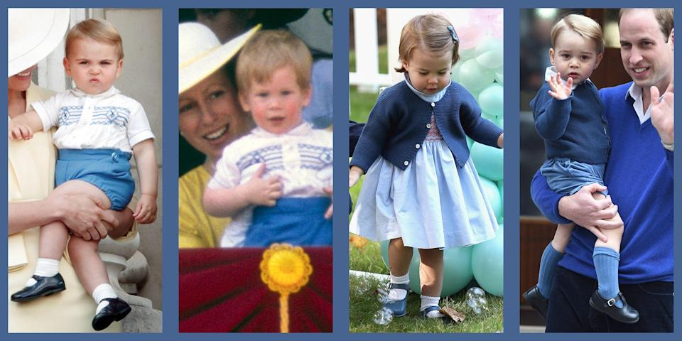 <p>The Duchess of Cambridge has made headlines time and again for rewearing her favourite pieces – and she has passed down this practical penchant to her three children, Prince George, Princess Charlotte and Prince Louis. Discover nine times Royal little ones have been spotted looking adorable in their stylish hand-me-downs.</p>