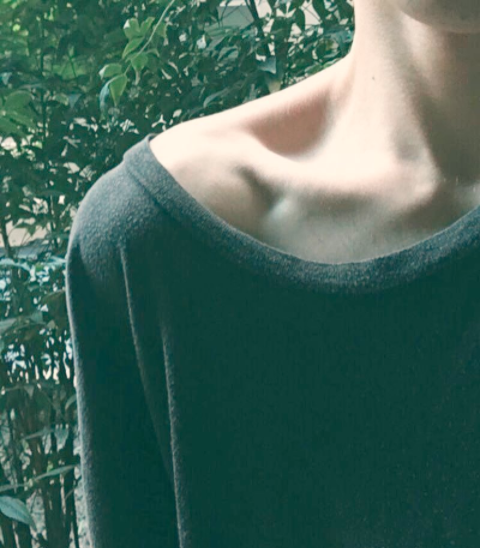 The term 'celebrates' protruding ribs, hips, collarbones. Photo: Instagram