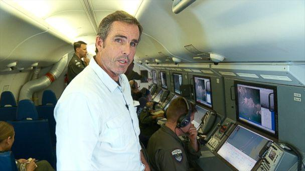 PHOTO: ABC News correspondent Bob Woodruff flew with the U.S. Navy Maritime Patrol Squadron Four over the South China Sea on Sep. 6, 2018. (ABC News)