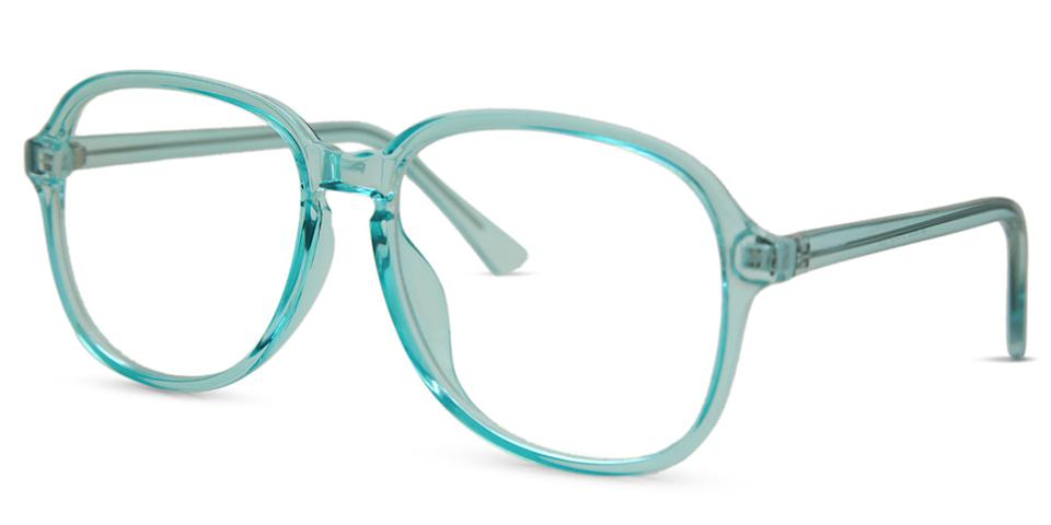 SmartBuy Collection Laurie glasses - Blue plastic frames with large square shape