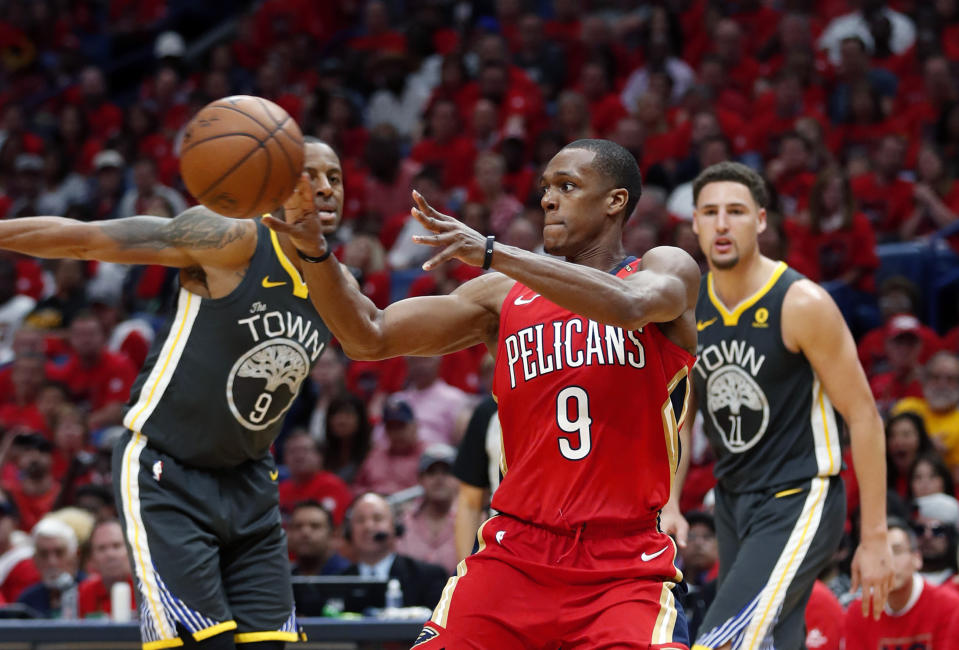 Rajon Rondo boosted his stock with a strong postseason. (AP)