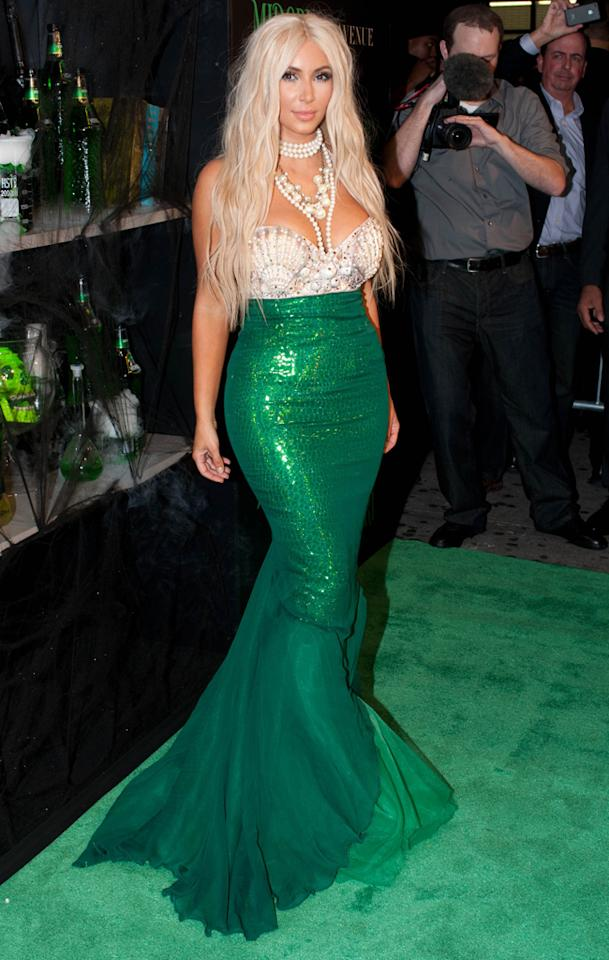 2012-10-27 Kim Kardashian at the Midori Green Halloween event in New York City.