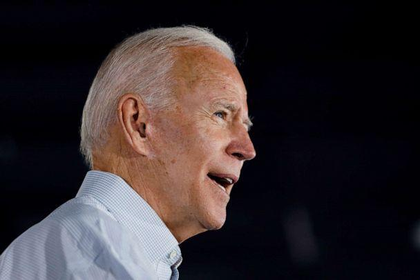 PHOTO: Democratic presidential candidate and former Vice President Joe Biden speaks at a community event, July 17, 2019, in Council Bluffs, Iowa. (Charlie Neibergall/AP)