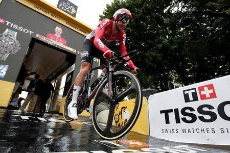 Cycling - The 104th Tour de France cycling race - The 14-km (8.7 miles) individual time-trial Stage 1 - Duesseldorf, Germany - July 1, 2017 - Lotto Soudal rider Tim Wellens of Belgium starts the stage. REUTERS/Benoit Tessier/Files