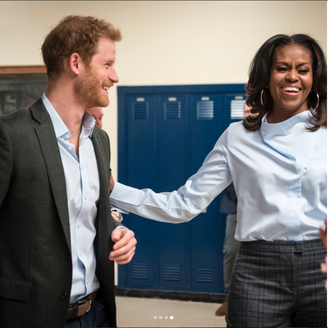 Prince Harry and Michelle Obama teamed up again. Photo: Instagram/Christoper Dilts/The Obama Foundation