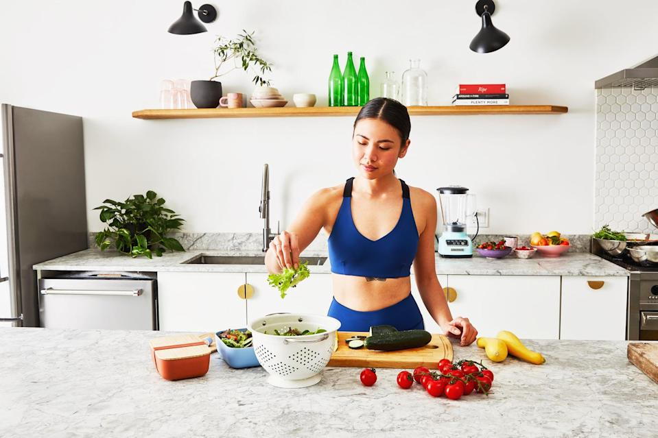 <p>Don't wing it at the grocery store. Instead, plan out your meals, and then make a grocery list containing everything you'll need to prepare your foods for the week. This way, you aren't tempted to buy anything you don't need, and you can avoid any last-minute supermarket runs.</p>