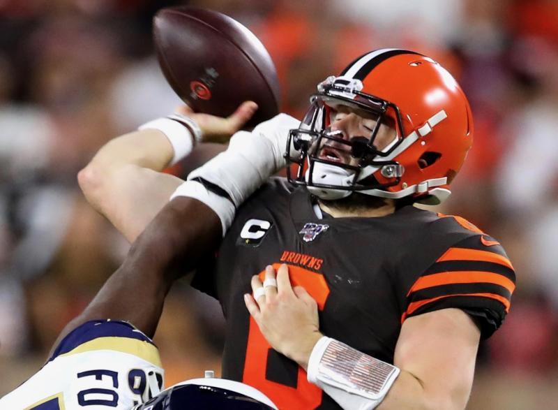 It's time to worry about Baker Mayfield and the Browns offense. (Getty)