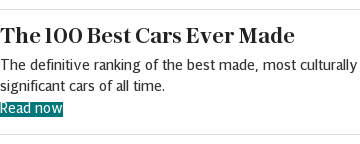 100 best cars story embed