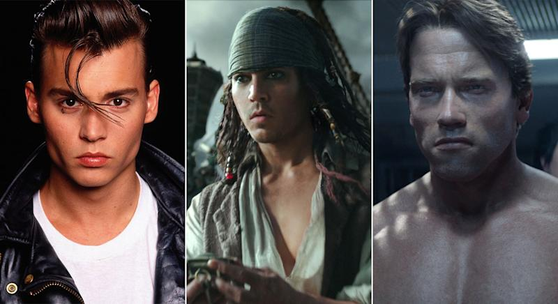 The same VFX team who did young Arnie also did young Depp in 'Pirates of the Caribbean: Salazar's Revenge' (Disney/Paramount/Universal)