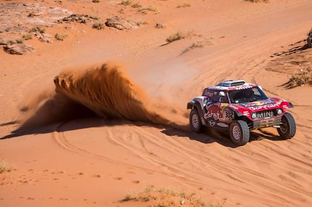 "#302 JCW X-Raid Team: Stephane Peterhansel, Paulo Fiuza <span class=""copyright"">Red Bull Content Pool</span>"