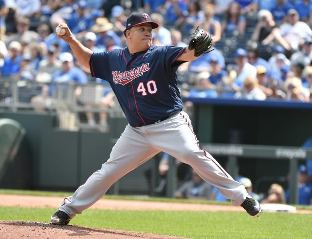 The Twins will celebrate Bartolo Colón. (Photo by Ed Zurga/Getty Images)