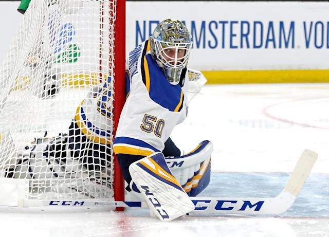 The addition of Jordan Binnington in goal proved to by a savvy move for the Blues and a profitable one for Scott Berry. (Getty)