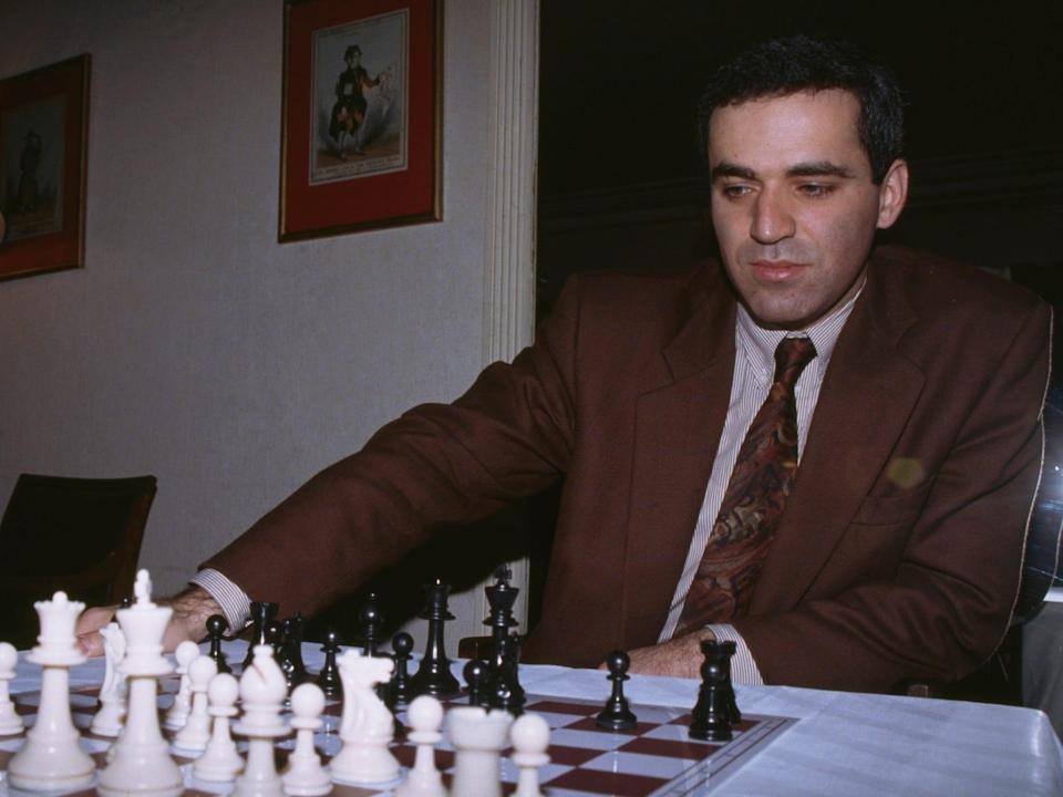 Garry Kasparov young chess