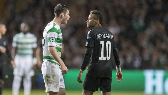Paris Saint-Germain superstar Neymar drew criticism as the Champions League returned on Tuesday evening after he refused to shake the hand of teenage Celtic defender Anthony Ralston following his team's 5-0 thrashing of the Scottish club in Glasgow. Social media users were quick to jump on the €222m Brazilian, who became the most expensive player in history when he joined PSG from Barcelona last month. Neymar showing no sportmanship and refusing to shake hands. Money can't buy you class. ]]>👀