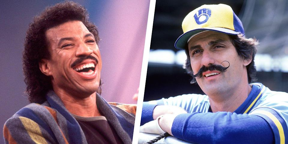 <p>Mustaches have been worn in a variety of ways throughout the years—from thick, full bushes to subtle, groomed shapes. Curious to see who sported the most talked-about upper lip look the year you were born? Click through to see 40 years of famous facial hair.</p>