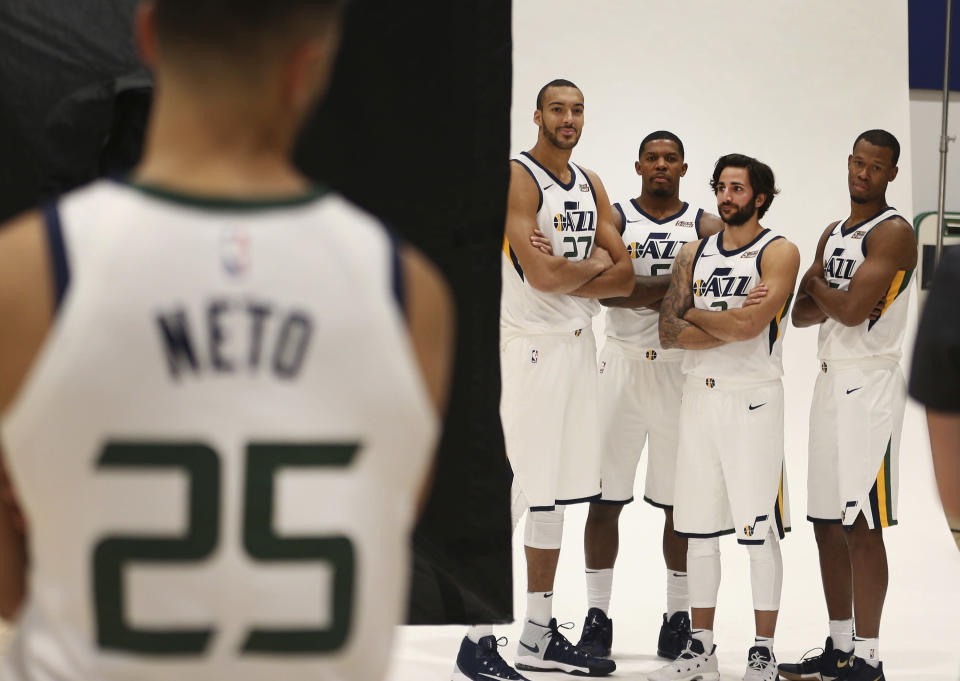 The Jazz will need contributions from up and down the roster to replace Gordon Hayward. (AP)
