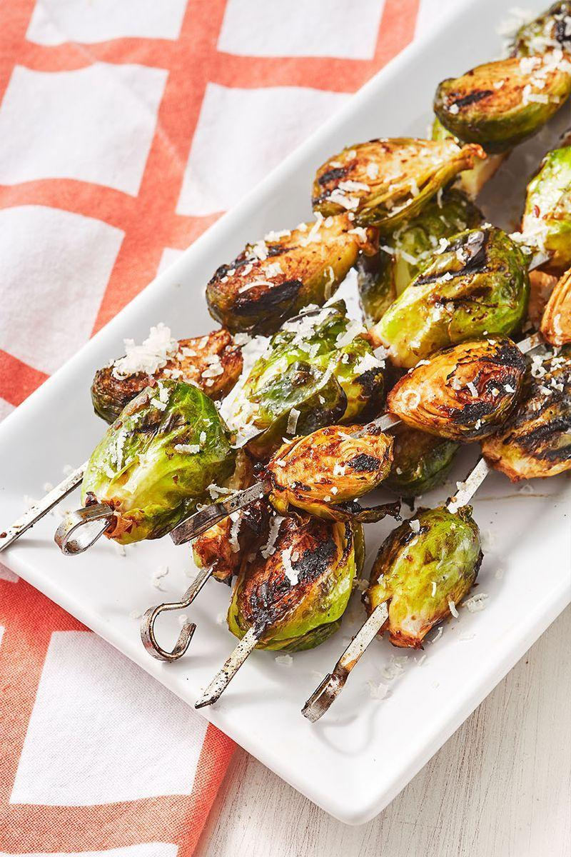 """<p>If you thought <a href=""""https://www.delish.com/uk/cooking/recipes/a31094164/best-sauteed-brussel-sprouts-recipe/"""" rel=""""nofollow noopener"""" target=""""_blank"""" data-ylk=""""slk:brussels sprouts"""" class=""""link rapid-noclick-resp"""">brussels sprouts</a> couldn't get any better, wait until you throw them on the grill.</p><p>Get the <a href=""""https://www.delish.com/uk/cooking/recipes/a33319526/grilled-brussels-sprouts-recipe/"""" rel=""""nofollow noopener"""" target=""""_blank"""" data-ylk=""""slk:Grilled Brussels Sprouts"""" class=""""link rapid-noclick-resp"""">Grilled Brussels Sprouts</a> recipe.</p>"""