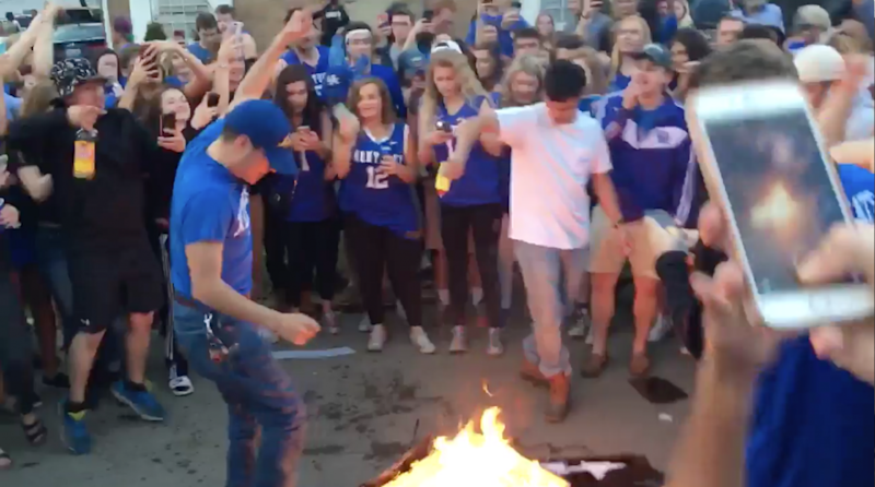 An incomplete list of things Kentucky fans burned after losing to UNC
