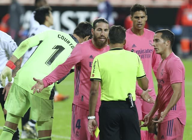 It was a frustrating night for Real Madrid and captain Sergio Ramos away to Valencia