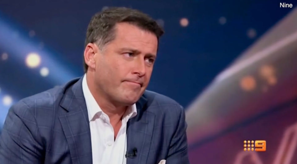 Karl Stefanovic has teared up in a trailer for his new show. Photo: Channel Nine