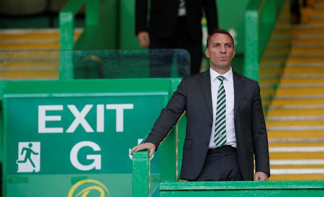 Soccer Football - Scottish Premiership - Celtic vs Aberdeen - Celtic Park, Glasgow, Britain - May 13, 2018 Celtic manager Brendan Rodgers after the match REUTERS/Russell Cheyne