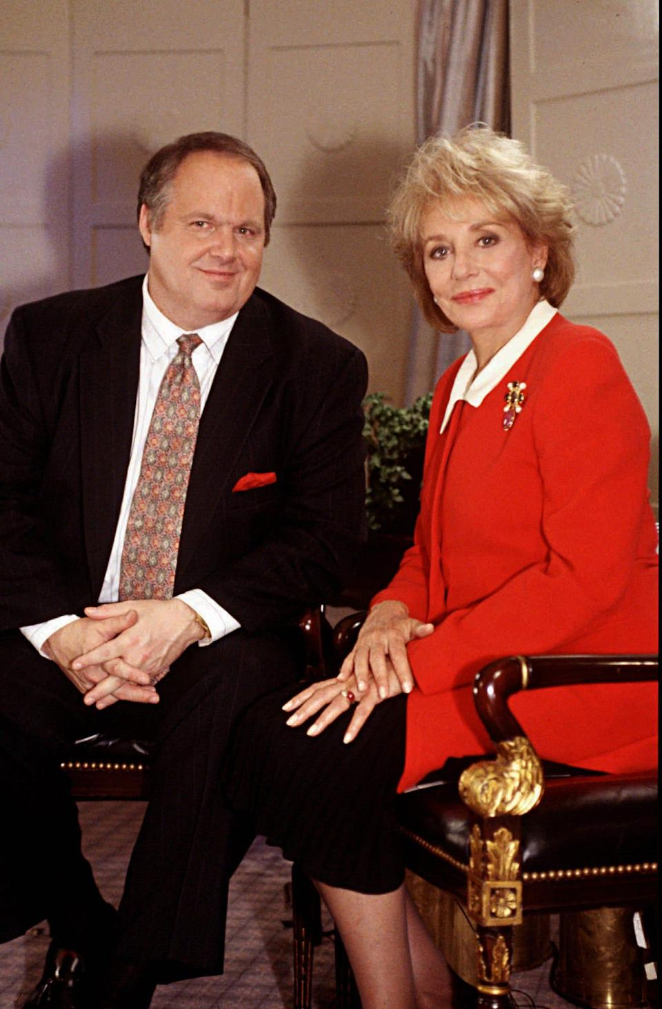 """Rush Limbaugh talks to Barbara Walters about politics, women, his childhood, his father, his career, his marriages and the secret to his success on ABC News' """"20/20"""" Nov. 5, 1993."""