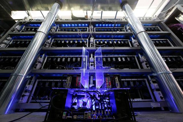 Bitcoin mining computer servers are seen in Bitminer Factory in Florence, Italy, April 6, 2018. (Image: Reuters/Alessandro Bianchi)