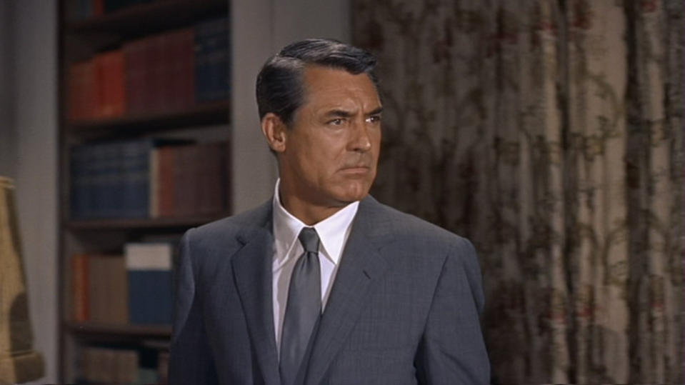 Cary Grant in Alfred Hitchcock's 'North By Northwest'. (Credit: MGM)