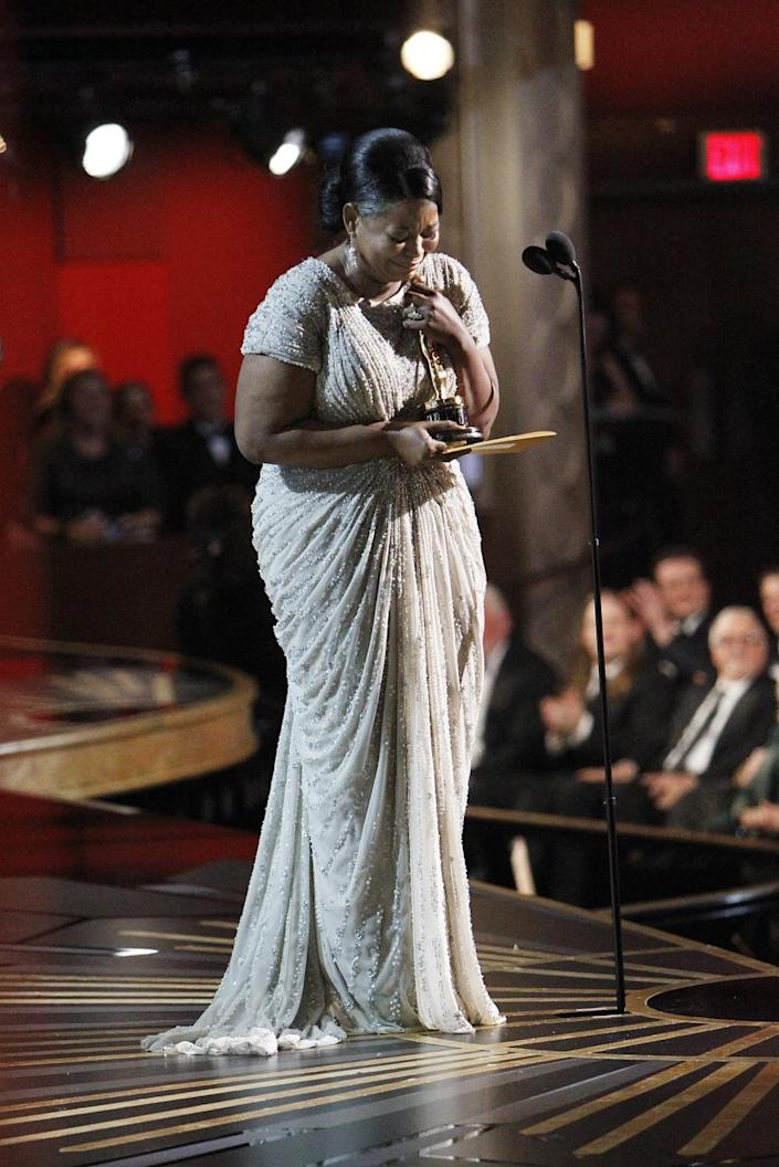 2012: Octavia Spencer accepts her supporting actress Oscar